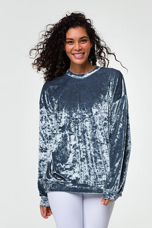 Onzie: Boyfriend Sweatshirt- Steel Velvet