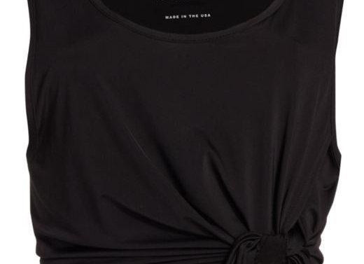 Heroine: Wrap Tank Black Jersey
