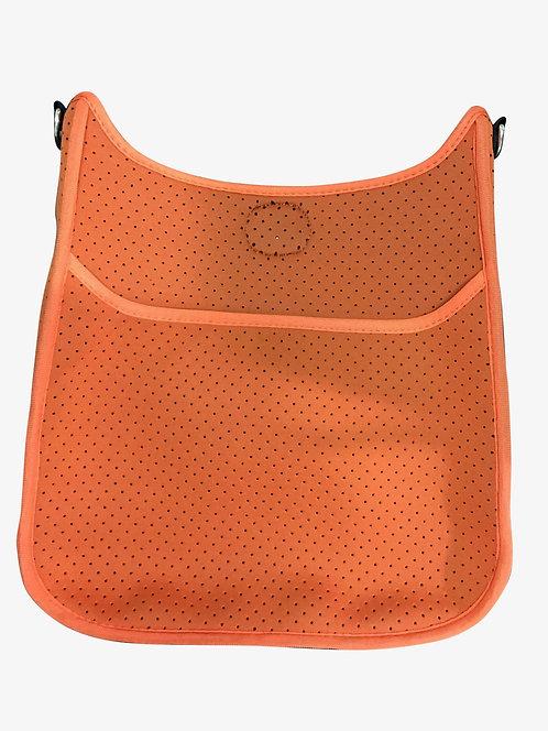 Ah-Dorned: Orange Perforated Messenger Bag