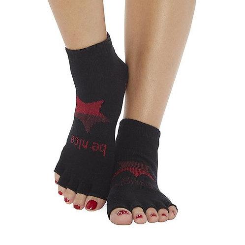 StickyBe Socks: Be Naughty Be Nice Half Toe Grip Socks