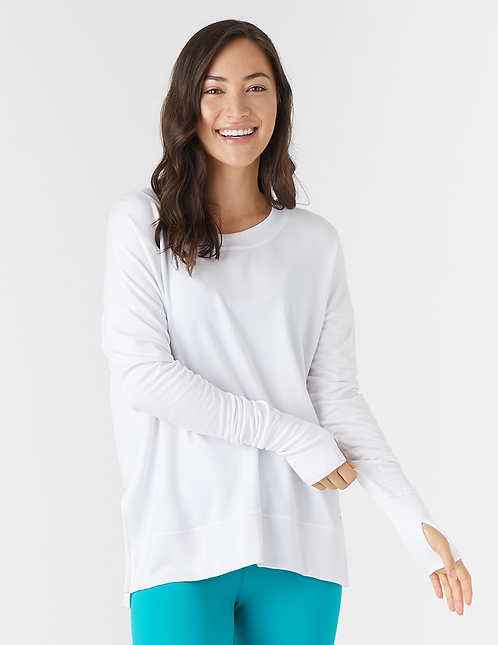 Glyder: Lounge Long Sleeve Top White