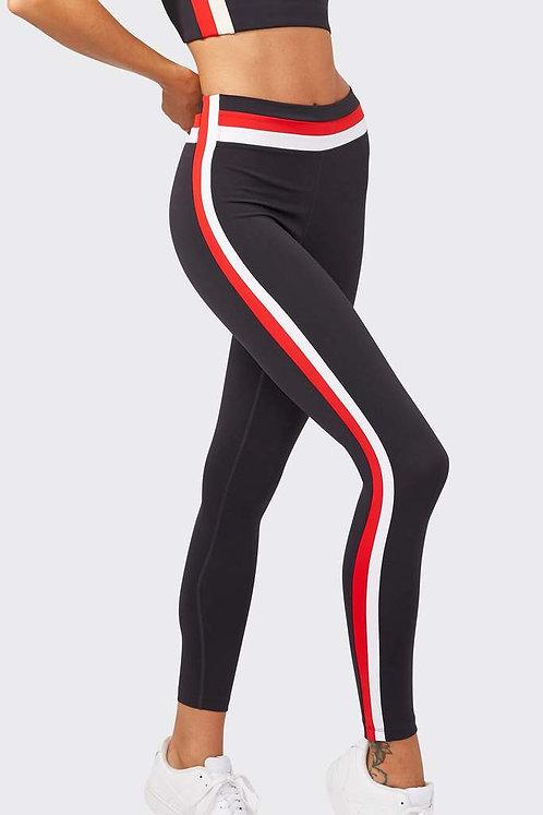 Splits59: Miles Mid-Rise Techflex 7/8 Leggings Graphite/Red