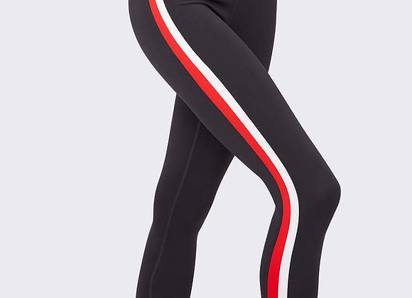 Splits59: Miles Mid-Rise Techflex 7/8 Leggings Graphite/Red