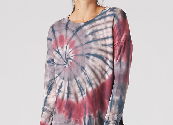Glyder: Lounge Long Sleeve Berry Tie Dye