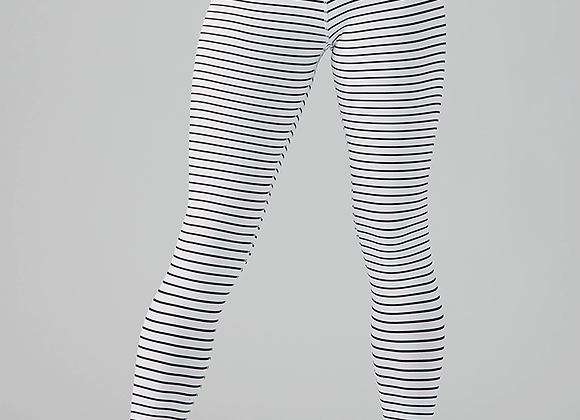 Glyder High Power Legging Black/White Stripe