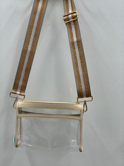 Ah-Dorned: Clear Messenger Bag strap separate