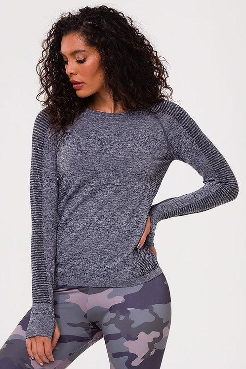 Onzie: Seamless Long Sleeve Top Black
