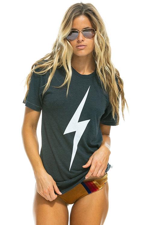 Aviator Nation: Bolt Crew Tee Shirt Charcoal