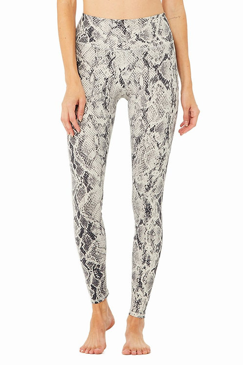 Alo Yoga: High-Waist Snakeskin Viper Legging Bone