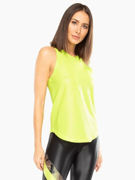 Koral: Aerate Shiny Netz Tank Neon Lime
