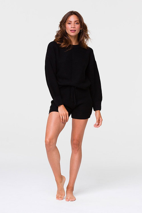 Onzie: Cozy Knit Short Black