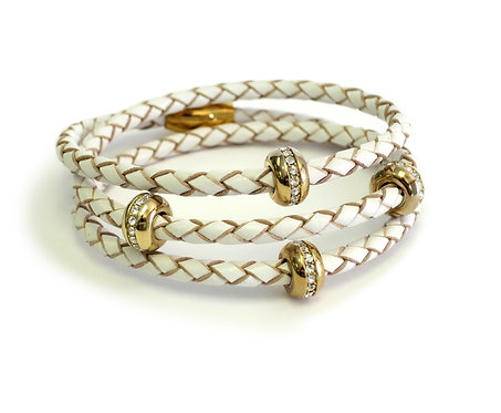 Liza Schwartz: Good Karma Triple Wrap White/Gold