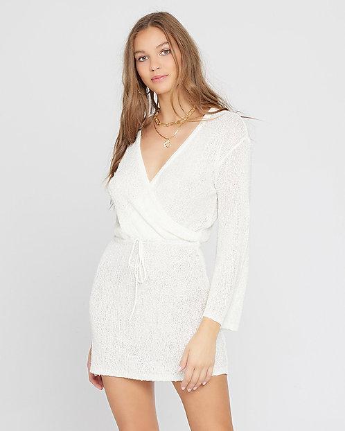 L Space: Topanga Sweater Knit Coverup Dress- Cream