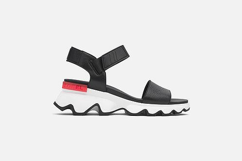 Sorel: Kinetic Sandal in Black Noir