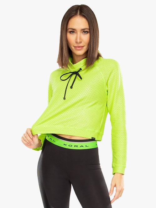 Koral Pump Netz Pullover Neon Lime