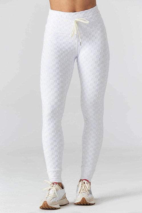 925Fit: Welcome Ohm Jacquard Legging - White J