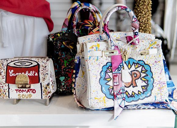 Custom Bag Designs: Birkin Splatter
