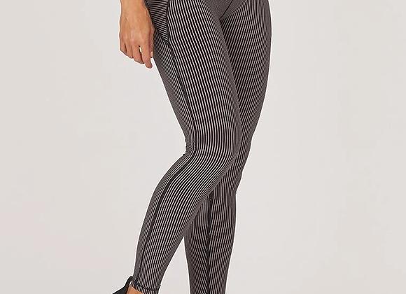 Glyder: Linear Legging Black Adobe Rose Stripe