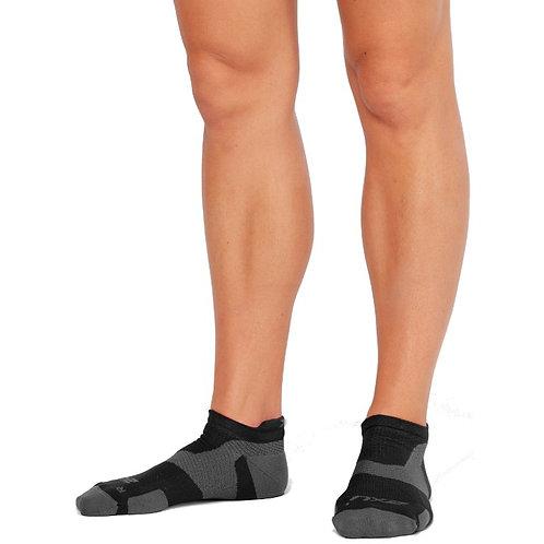 2XU: Vectr Light Cushion No Show Socks Black/Titanium