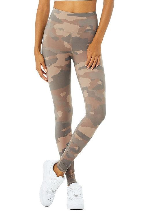 Alo Yoga: High Waist Vapor Legging Putty Camouflage