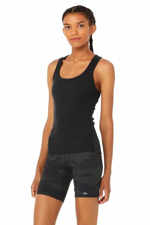 Alo Yoga: Rib Support Tank Black