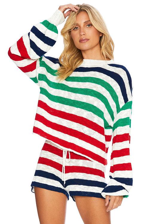 Beach Riot: Ava Sweater- Nautical Stripe