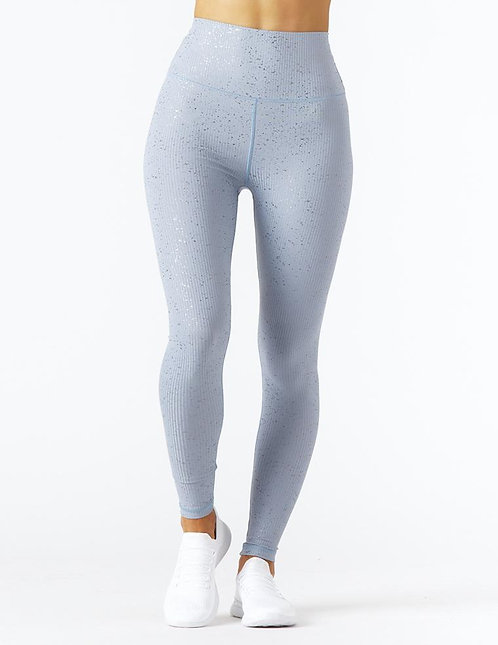 Glyder: High Power II Legging: French Blue/Silver Speckle Gloss