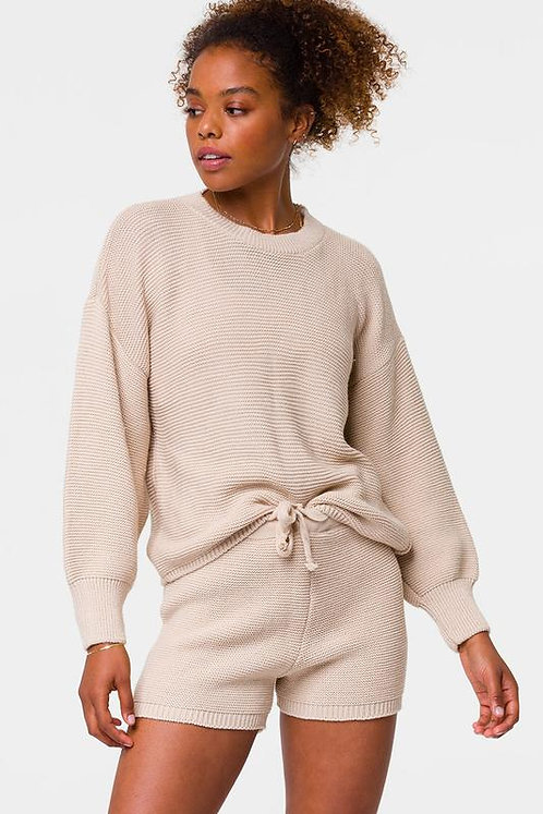 Onzie: Cozy Knit Sweater- Cuban Sand