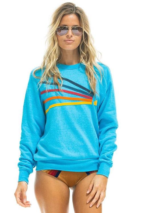 Aviator Nation: Daydream Crew Sweatshirt Neon Blue