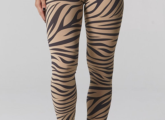 925Fit: Zebra Camel High Standards Legging