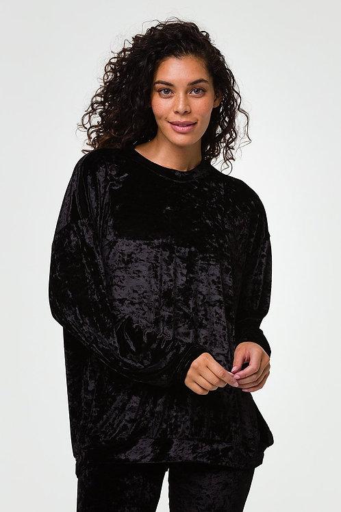 Onzie: Boyfriend Sweatshirt- Black Velvet
