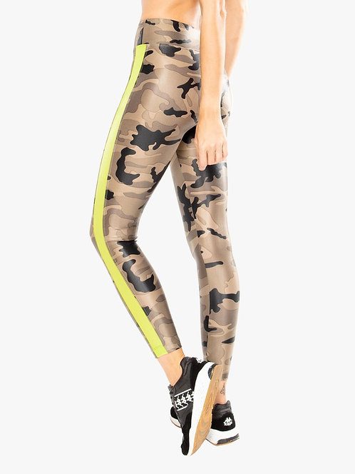 Koral: Dynamic Duo High Rise Infinity Legging Lime Camo
