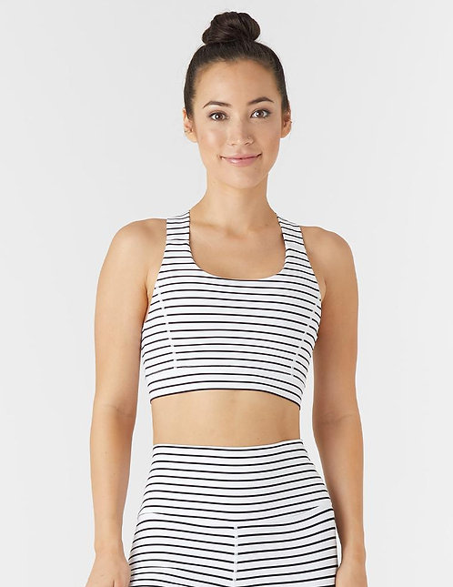 Glyder: Full Force Bra White/Black Stripe
