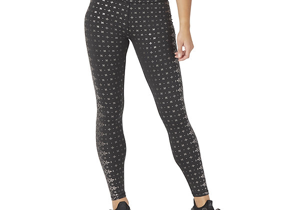 Sultry Legging Black Gloss Wildflower Print