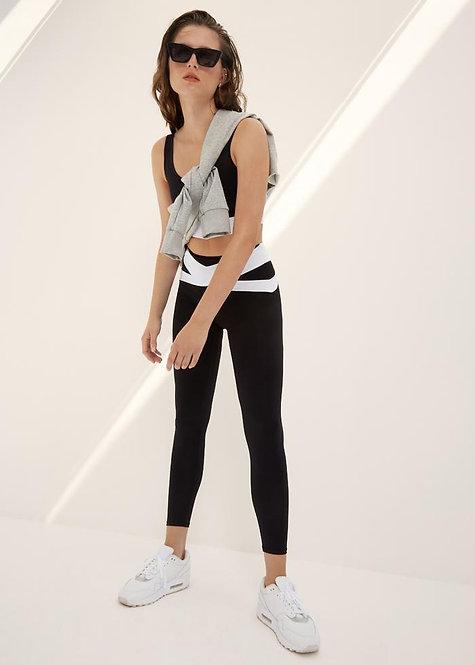 Body Language: Chloe Legging Onyx/White
