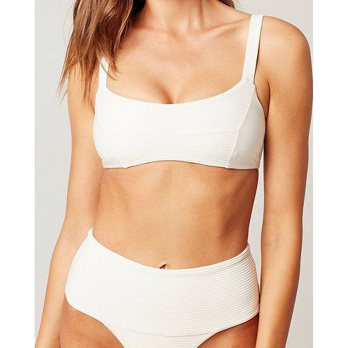 L Space: Eco Chic Repreve Jess Bikini Top- Cream