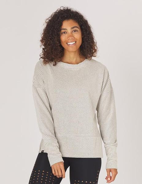 Glyder: Shaker Knit Pullover Oatmeal