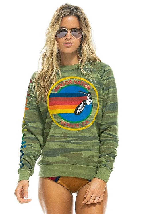Aviator Nation: Crew Sweatshirt Camo