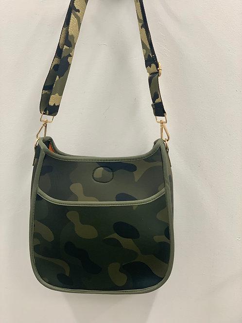 Ah Dorned: Army Camo Neoprene Messenger Bag- Strap INCLUDED