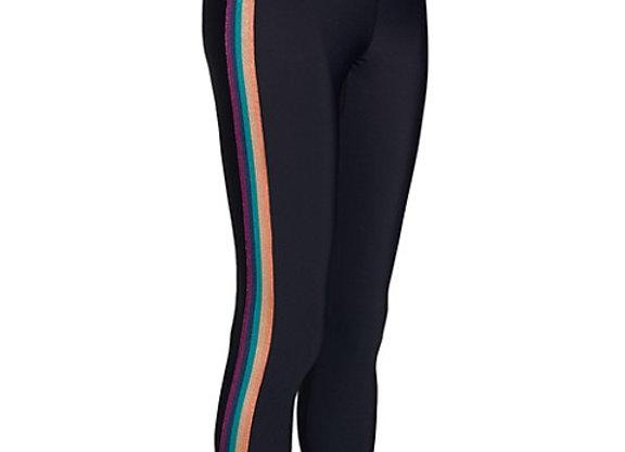 Spiritual Gangster: Essential High Waist Legging Shimmer Stripe Black