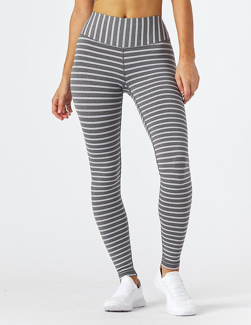 Glyder: Sultry Legging Grey/White Stripe