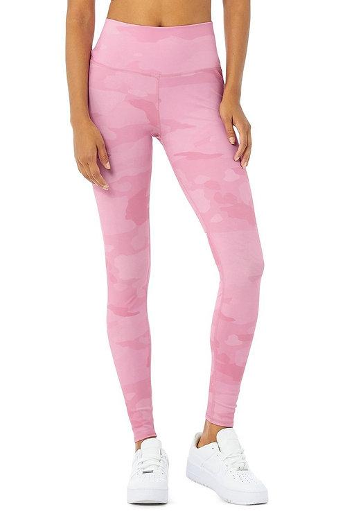 Alo Yoga: High Waist Vapor Legging Pink Camouflage