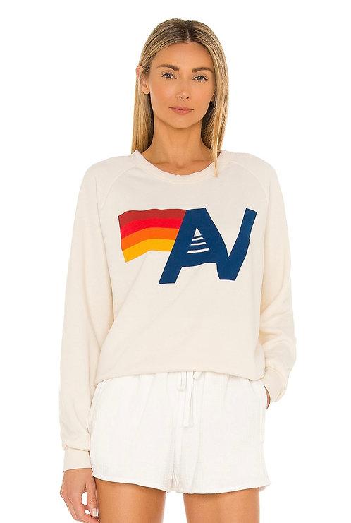 Aviator Nation: Logo Crew Sweatshirt - Vintage White