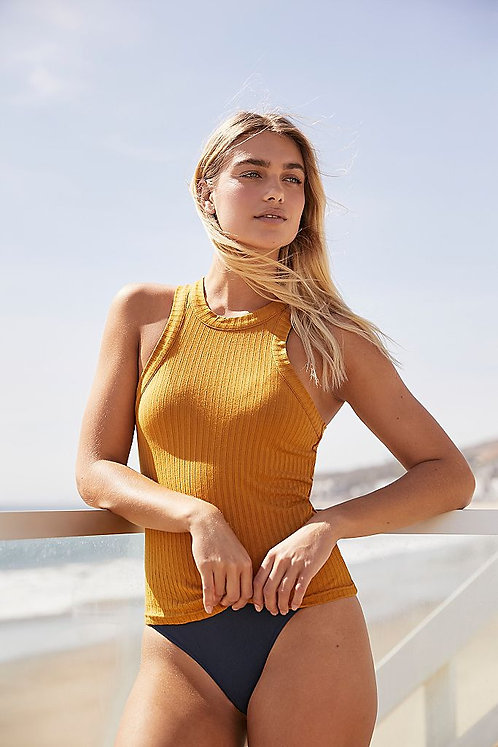 Free People: Blissed Out Tank Golden Ochre