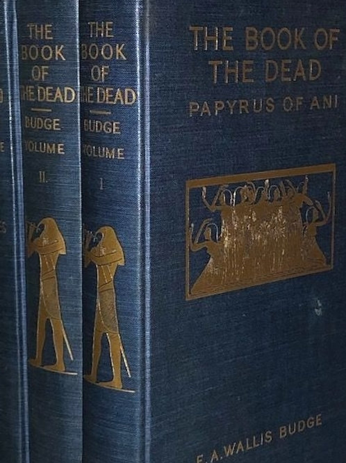 The Book of The Dead Papyrus of Ani Egypt EA Wallis Budge Vol 1 thru 3