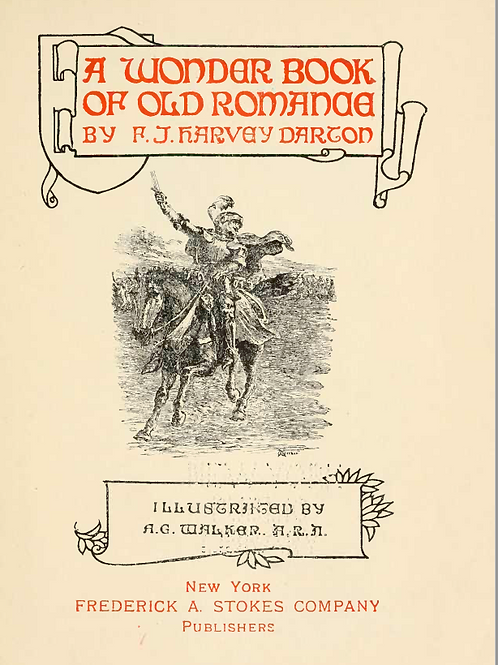 A Wonder Book of Old Romance