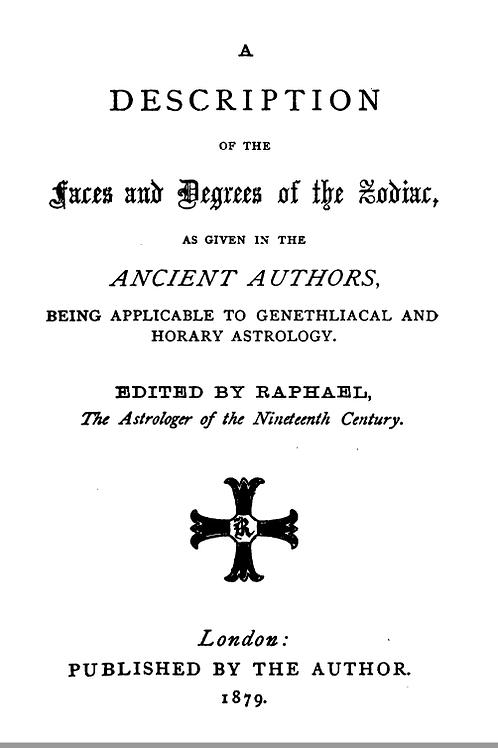 A Description of the Faces - Degrees of the Zodiac - Raphael 1879