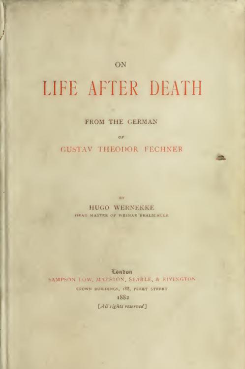 On Life After Death - G T Fechner