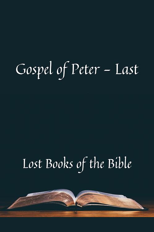 Gospel of Peter - Last