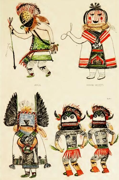 Hopi Katcinas Drawn by Native Artists - J W Fewkes 1904